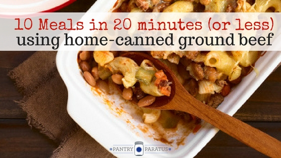 10 Meals in 20 minutes (or less)