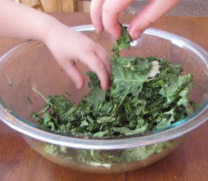 munching on kale
