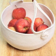 harvest basket leather handle