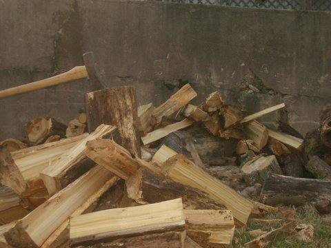 splitting firewood, photo via flikr by David Shellabarger